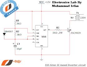 ELECTRONICS LAB: 555 timer IC Inverter 12V to 220V