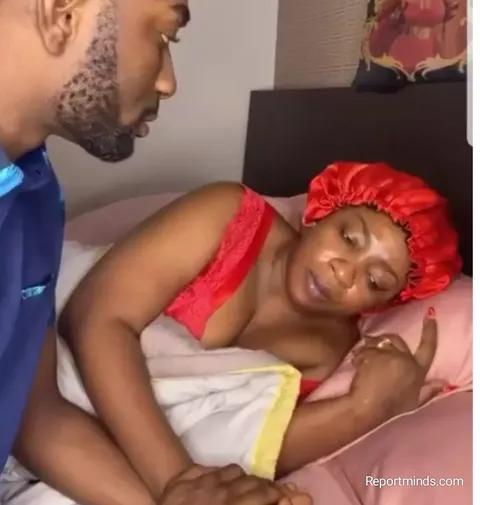 Anita Joseph shares love up bedroom video with her husband, Mc Fish
