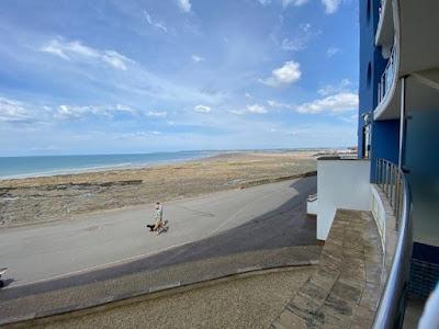 Westward Ho! beach from a balcony