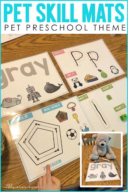 Preschool Pets Skill Mats
