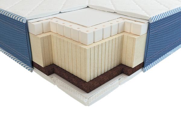 Детский ортопедический матрас Вини 3D латекс кокос зима-лето 60х120 ТМ Неолюкс