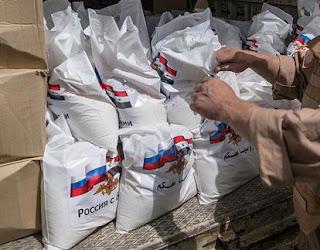 suministro de ayuda humanitaria a Siria