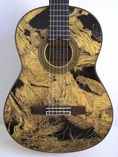 рисунок на гитаре