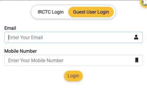 irctc user login