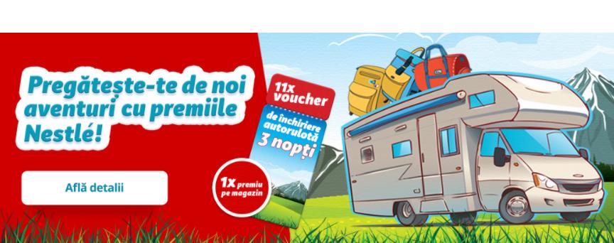 Concurs nestle - Castiga 1 Voucher inchiriere autorulota pentru 3 nopti - concursuri - online - premii - 2021