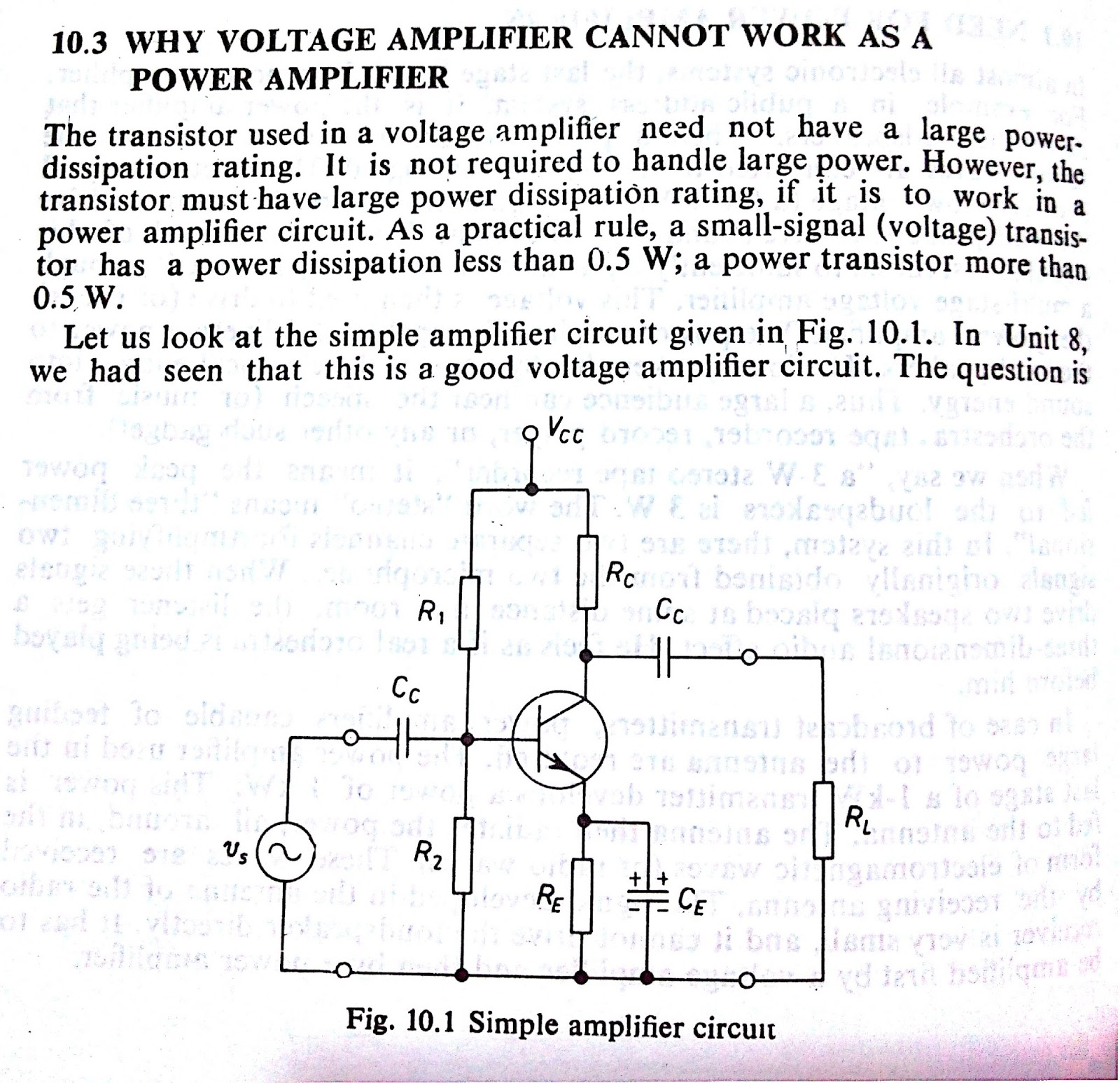 hight resolution of why voltage amplifier can not work as power amplifier