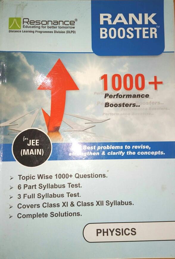 RESONANCE RANK BOOSTER JEE MAIN PDF ~ BEST IITJEE PREPARATION BOOKS