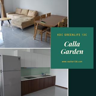 căn hộ Calla Garden 2 phòng ngủ khu dân cư greenlife 13c