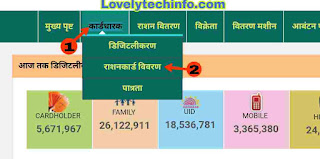 ration card online check kare.
