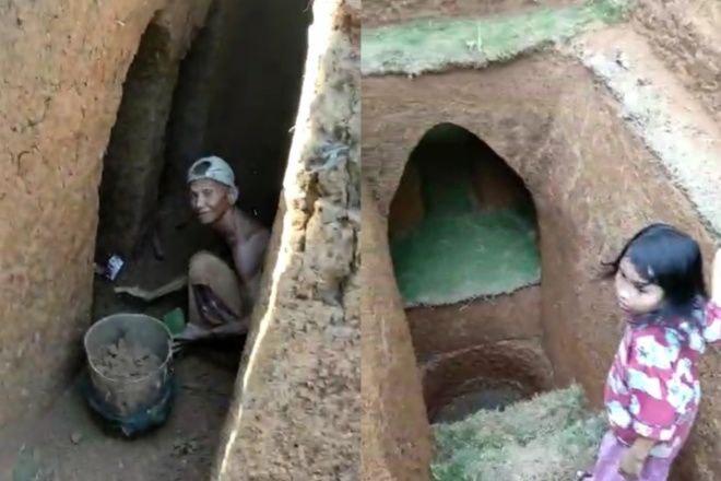 Viral Video Warga di Cenrana Buat Rumah Bawah Tanah, Dibangun Hampir 2 Tahun