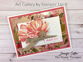 Art Gallery Bundle by Stampin' Up!.  Video link & supply list on the blog.  #StampinUp #StampTherapist