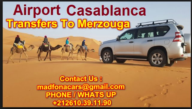 Transfers from Casablanca  airport to Merzouga