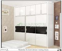 Lemari minimalis sliding model cabinet unit Tx