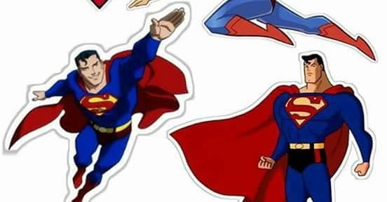 Cartoon Superman: Free Printable Cake Toppers - Oh My ...
