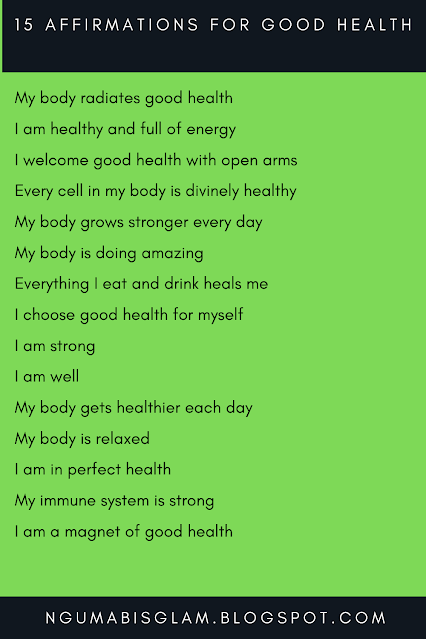 15 Affirmations For Good Health