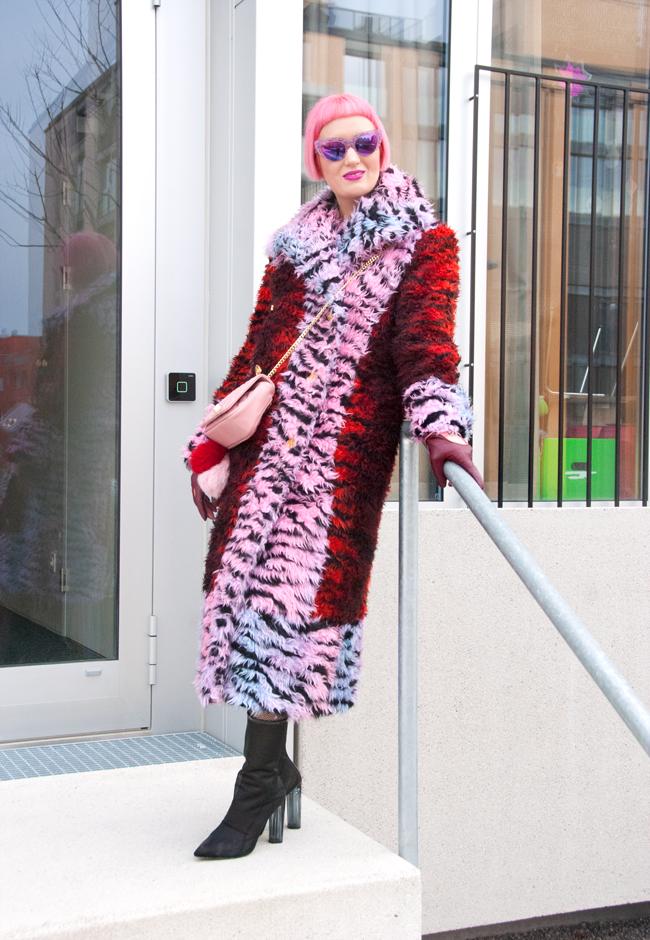 kenzo x h&m, tiger coat, shaggy fur coat