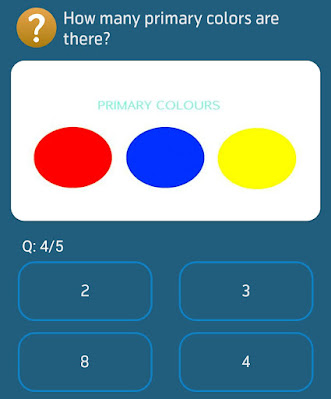 How many primary colors are there?