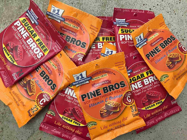 pine bros cough drops throat relief cold sick