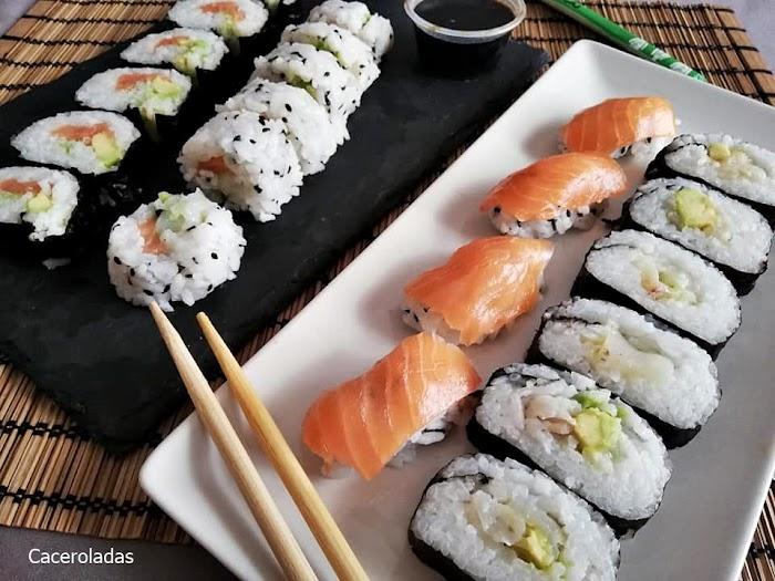 Como hacer sushi casero - Receta fácil para principiantes