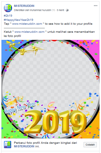 How to add a frame to your page's profile picture (Happy New Year 2020) 4