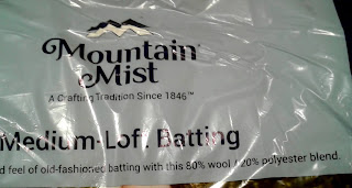 Mountain Mist 80 wool/20 poly quilt batting cover
