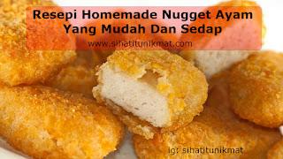 resepi homemade nugget ayam