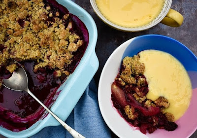 Scottish Blackberry & Pear Crumble