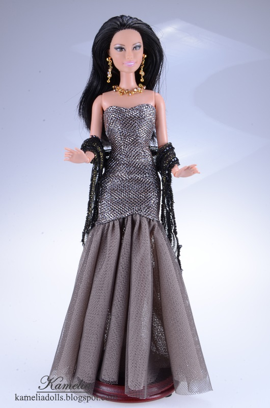 Evening dress for Barbie doll.