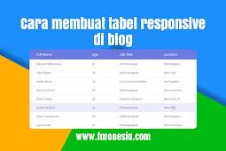 Cara membuat tabel responsive pada blog