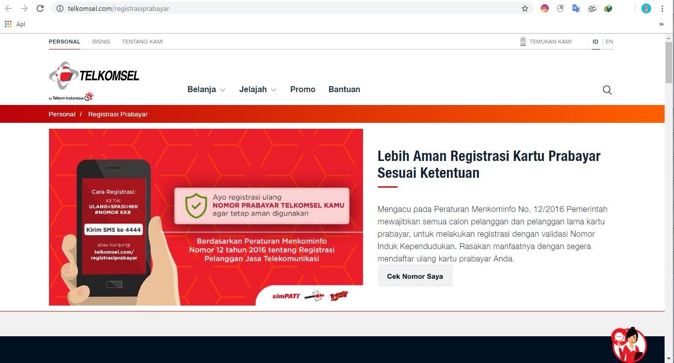 Cara Daftar Kartu Sim Xl Telkomsel Indosat Tri All Operator Kosingkat