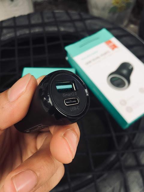 Tẩu sạc xe hơi RAVPowe USB Power Delivery