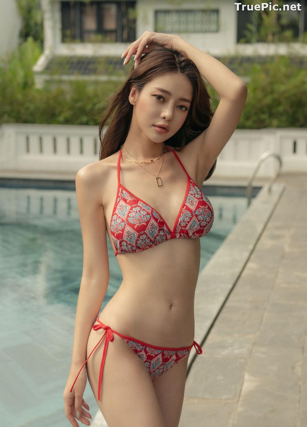 Image Korean Fashion Model - Kim Moon Hee - Hestia Slim Bikini - TruePic.net - Picture-1