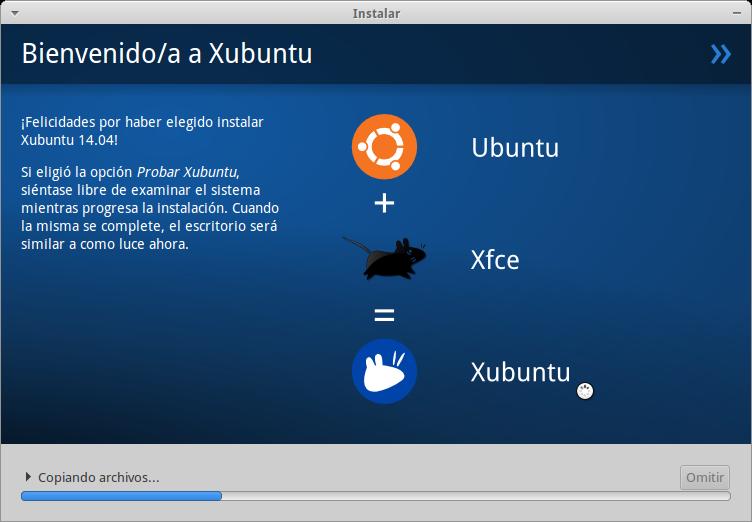 Bienvenido a Xubuntu
