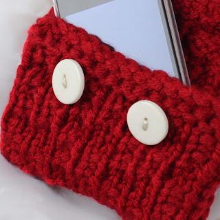 Loom Knit Phone Sleeve Wallet Pattern Free