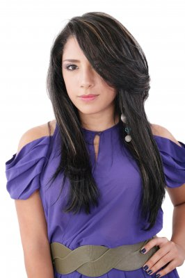"""Fashion Luxury Portrait Of Young Girl Teenager In Purple Style D"" by David Castillo Dominici / www.freedigitalphotos.net"