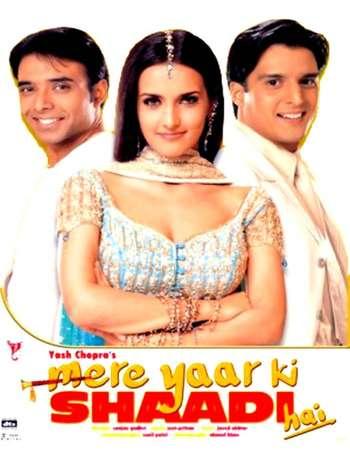 Poster Of Mere Yaar Ki Shaadi Hai 2002 Hindi 650MB BRRip 720p ESubs HEVC Watch Online Free Download downloadhub.net