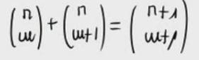Propiedad de números combinatorios (Tartaglia) Parte 1