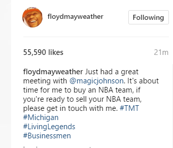 'It's About Time For Me To Buy An NBA Team' - Floyd Mayweather 2