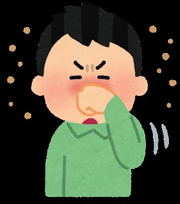 鼻をこすっている人のイラスト(花粉)