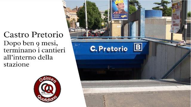 Terminati i lavori nella stazione Castro Pretorio