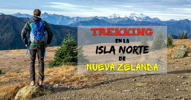 Treking en la isla norte de Nueva Zelanda