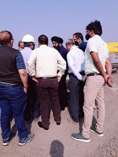 संत सिंगाजी पावर परियोजना का मंगलवार को एमडी मंजीत सिंह ने किया निरीक्षण