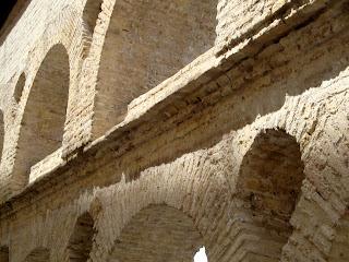 Beautiful ancient Roman architecture in Sevilla