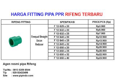 Jual reducer pipa ppr rifeng terbaru 2021, hubungi kami untuk mendapatkan harga penawaran khusus