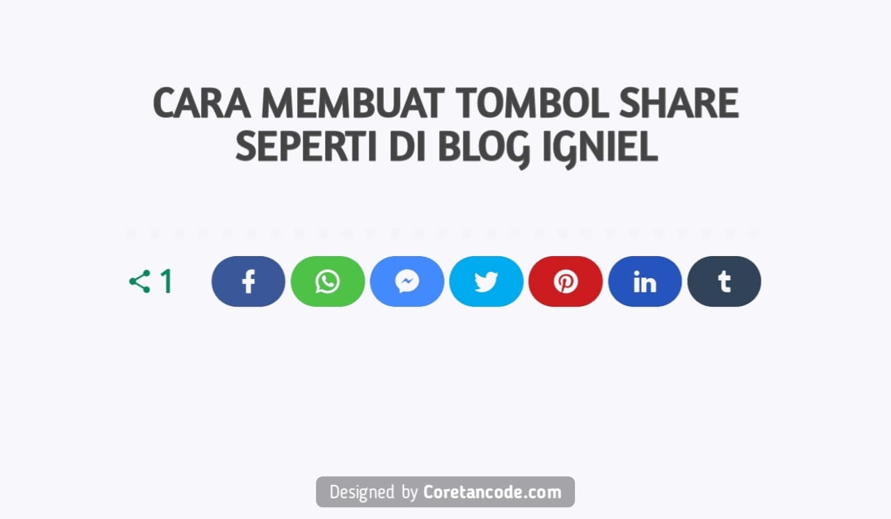 Cara Membuat Tombol Share Seperti di Blog Igniel
