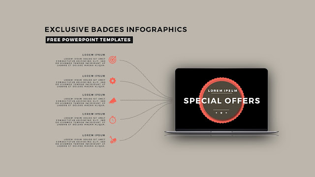 Infographic Badges Free PowerPoint Template for Special Offers Slide 10