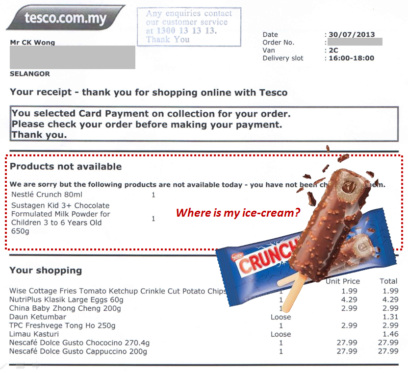 A closer look at Tesco Online Shopping setup & fulfillment