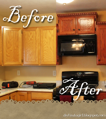 Restain Kitchen Cabinets: Someday Crafts: Guest Blogger
