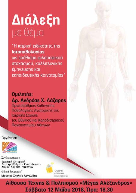 Η ιατρική ειδικότητα της Ιστοπαθολογίας ως ερέθισμα φιλοσοφικού στοχασμού, καλλιτεχνικής έμπνευσης και εκπαιδευτικής καινοτομίας
