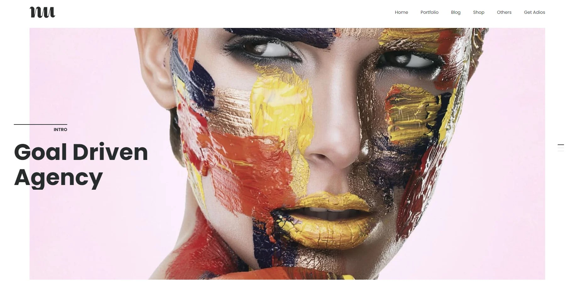 Adios - Portfolio Elementor WordPress Theme